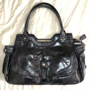 New Leonello Borghi Patent Leather Tote Bag